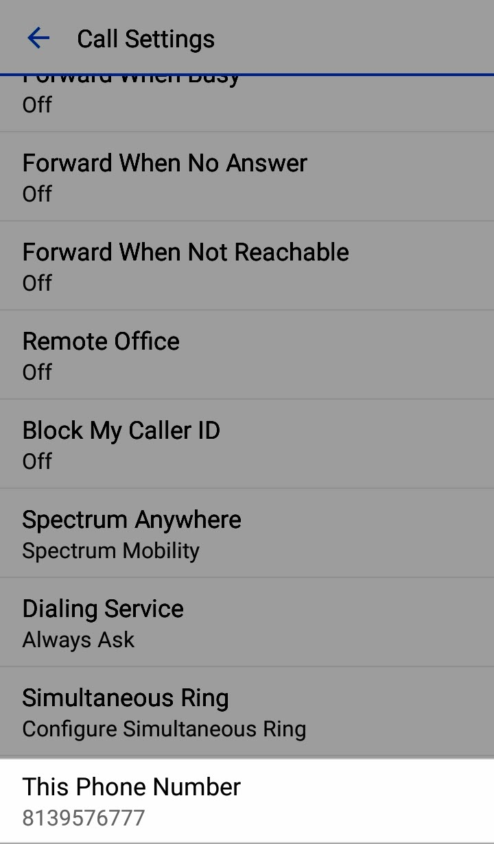 Anywhere Connect Android Phone and Tablet – Call Settings - Charter